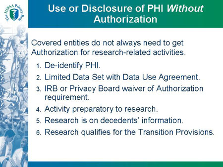 Hipaa Privacy Rule And Its Impacts On Research